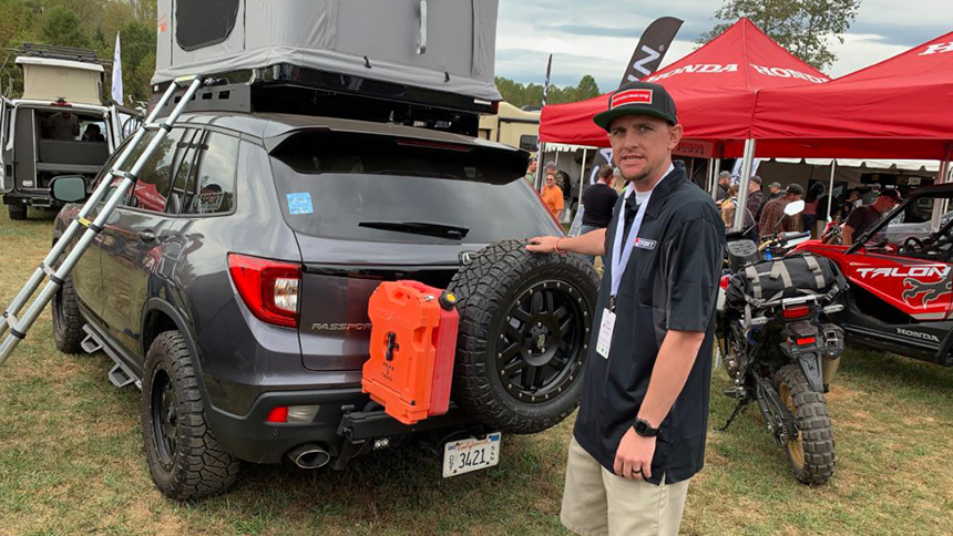 Pickup Truck Talk : Honda Passport Overland Rig Filled with Goodies
