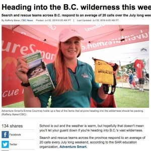 North Shore Trail Map is part of the 10 Essentials for BC Hiking Safety
