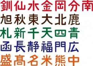 国鉄車両所属区表記文字