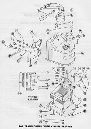 American Flyer Transformer 16B Parts List & Diagram | TrainDR