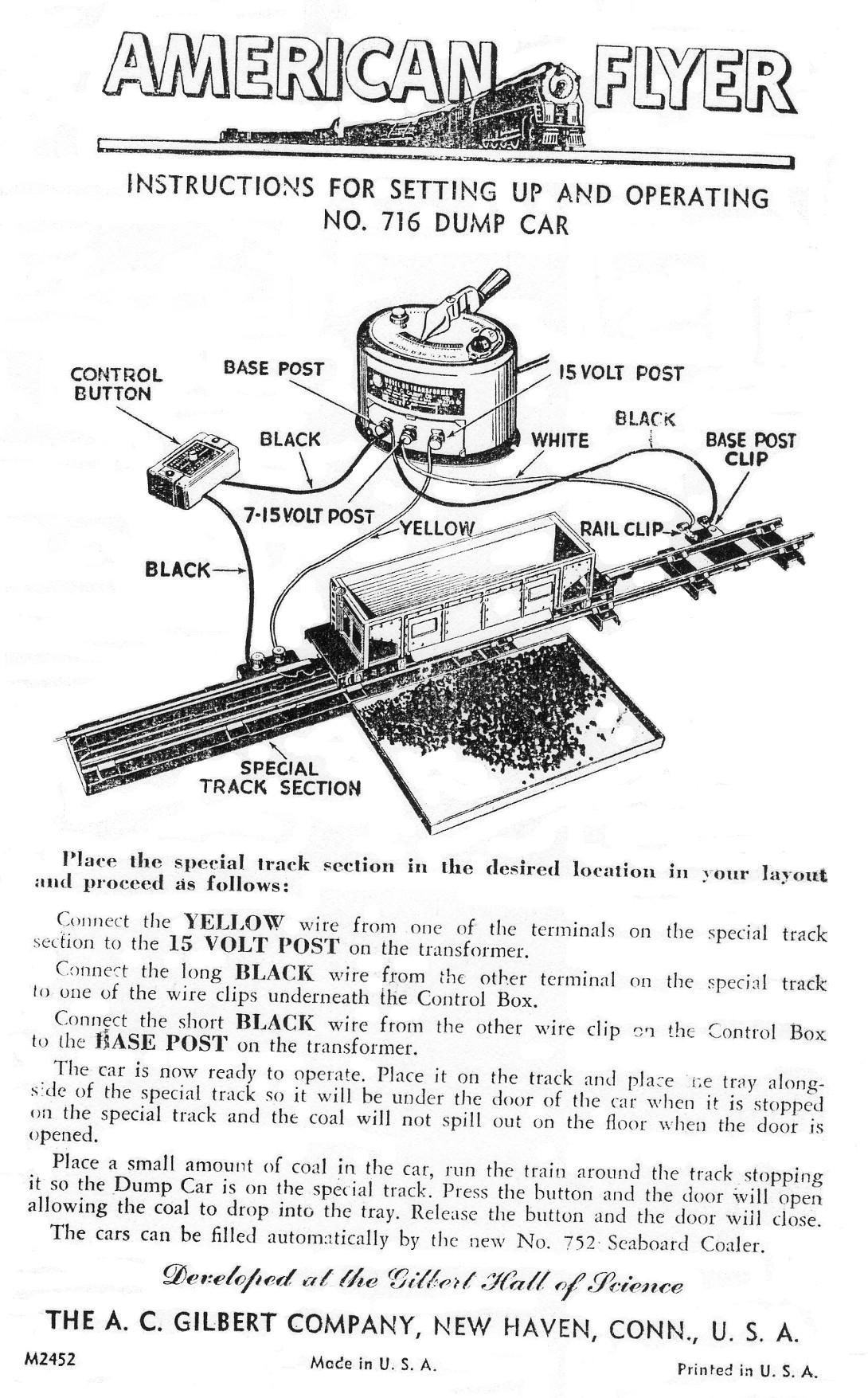 American Flyer Coal Dump Car 716 Instructions