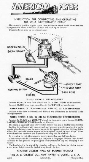 American Flyer #583A Rewiring Diagram  Classic Toy Trains Magazine