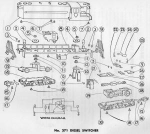 American Flyer Diesel Switcher 371 Parts List & Diagram