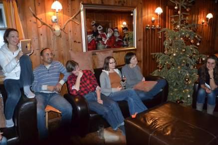 Showeinlage des Weihnachtsteams