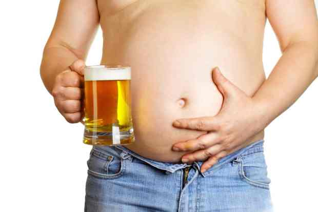 alcohol visceral beer belly