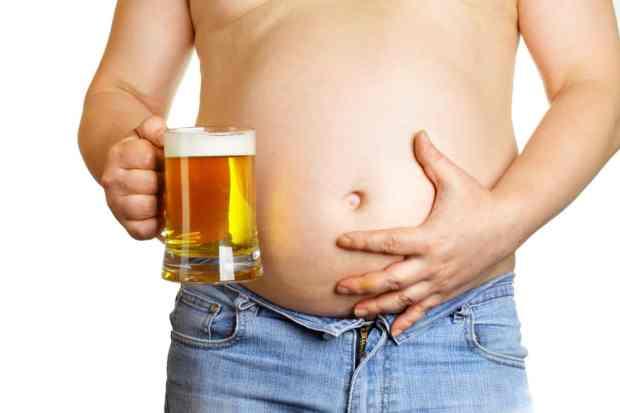 alcohol visceral beer belly