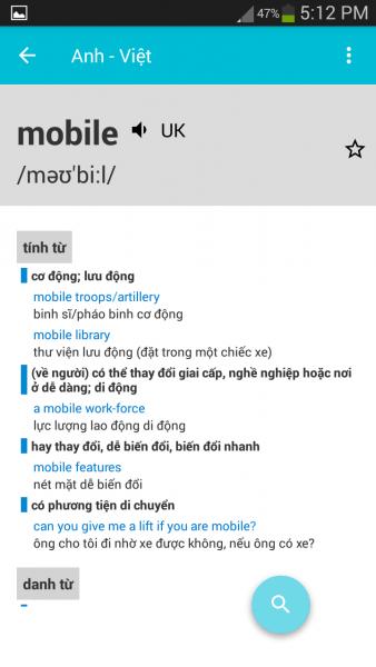 image011 338x600 - Top 4 ứng dụng tra từ điển Anh – Việt di động