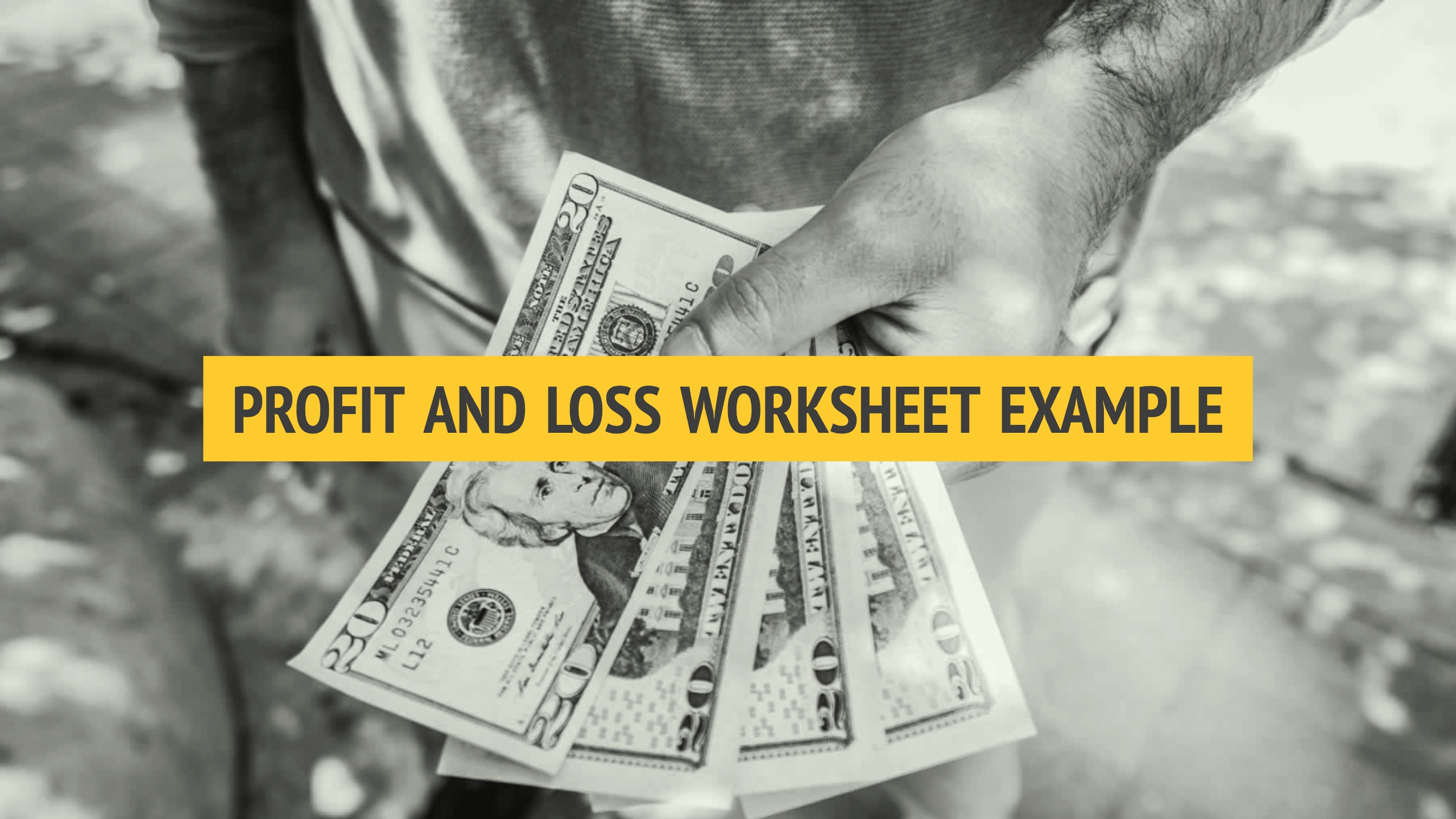 Profit And Loss Worksheet Example