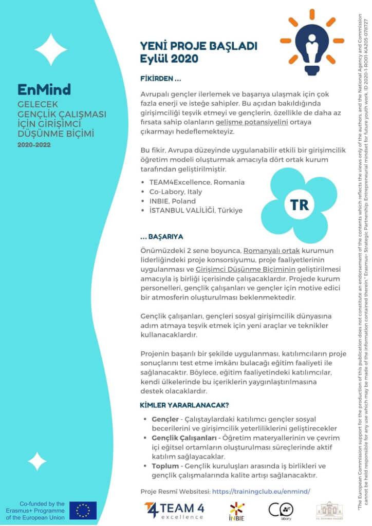 Entrepreneurial Mindset Leaflet 1 TR