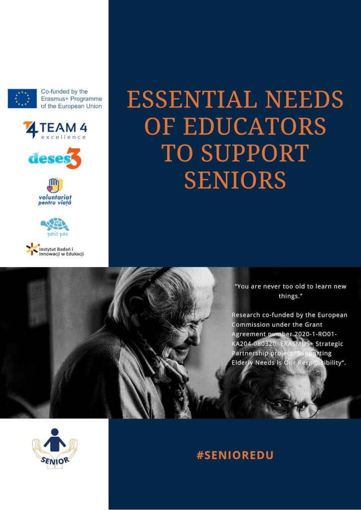 Essential needs of educators to support seniors