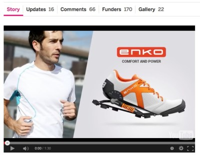 länk till video https://www.indiegogo.com/projects/enko-running-shoe-comfort-and-power