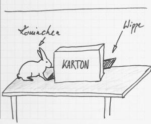 Kaninchen Wippe Skizze