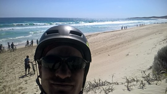 Ready to ride the beach section