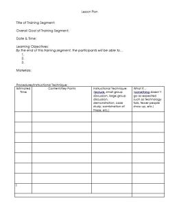 Lesson Plan Template - w What If Column