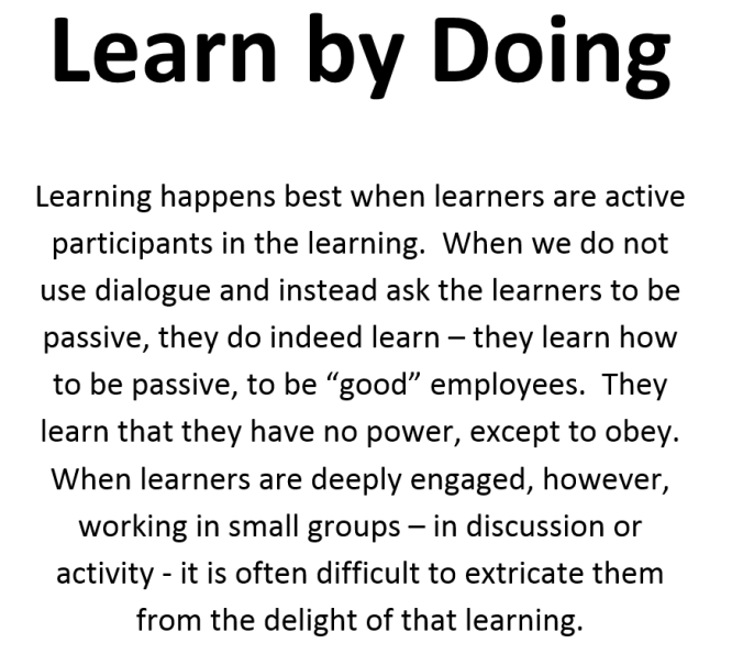 Adult Learning - Learn by Doing
