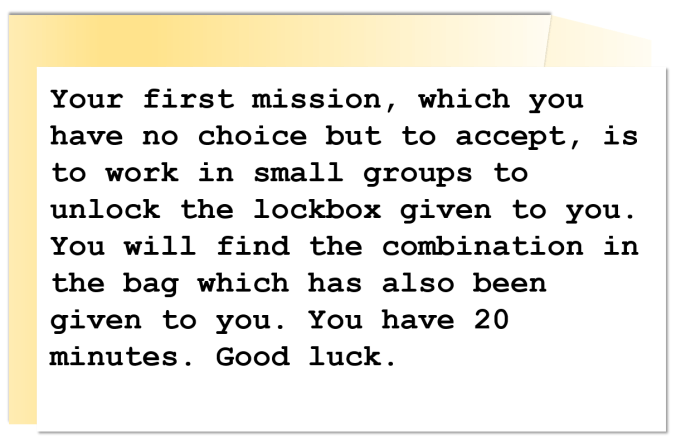 team dynamics activity instructions