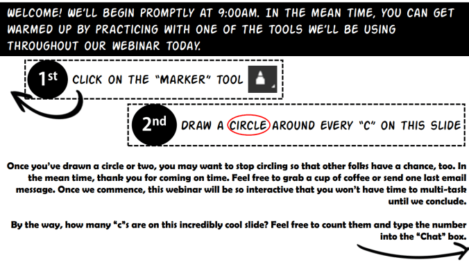 Drawing Tools to increase webinar engagement
