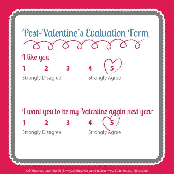 training valentines - evaluation