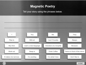 Magnetic Poetry - elearning interaction