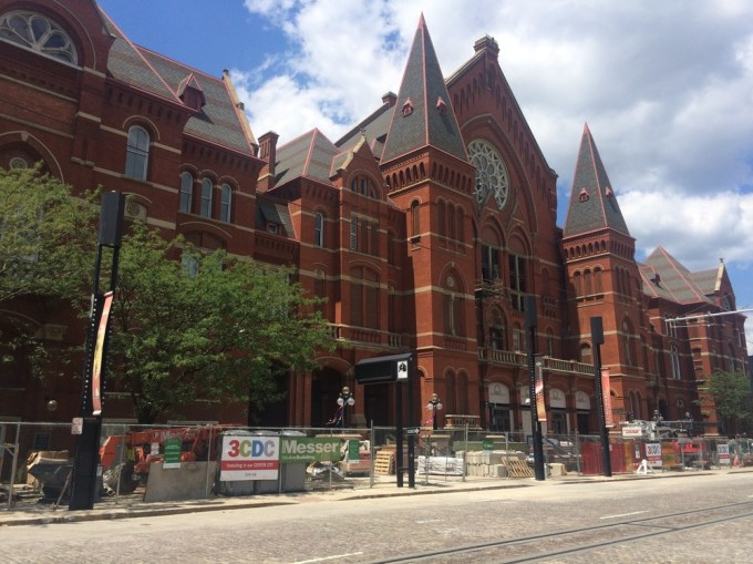 The Music Hall, which faces Washington Park.  Under renovation and will reopen in 2017.   (Photo by B. Wing)
