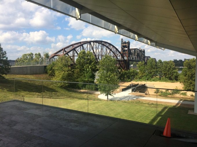 The Rock Island Bridge as seen from the Clinton Presidential Library     Photo by B. Wing