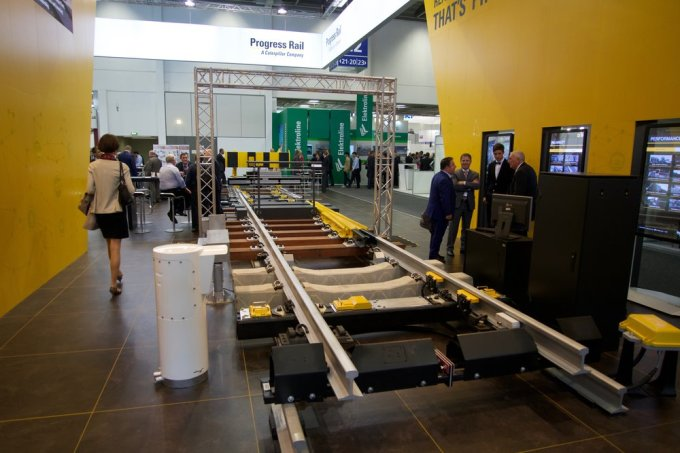 Progress Rail (Caterpillar) was hawking their latest in high speed turn outs.
