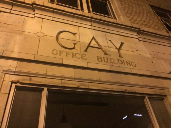 A rather exclusive office building in downtown Little Rock.   Photo by B. WIng