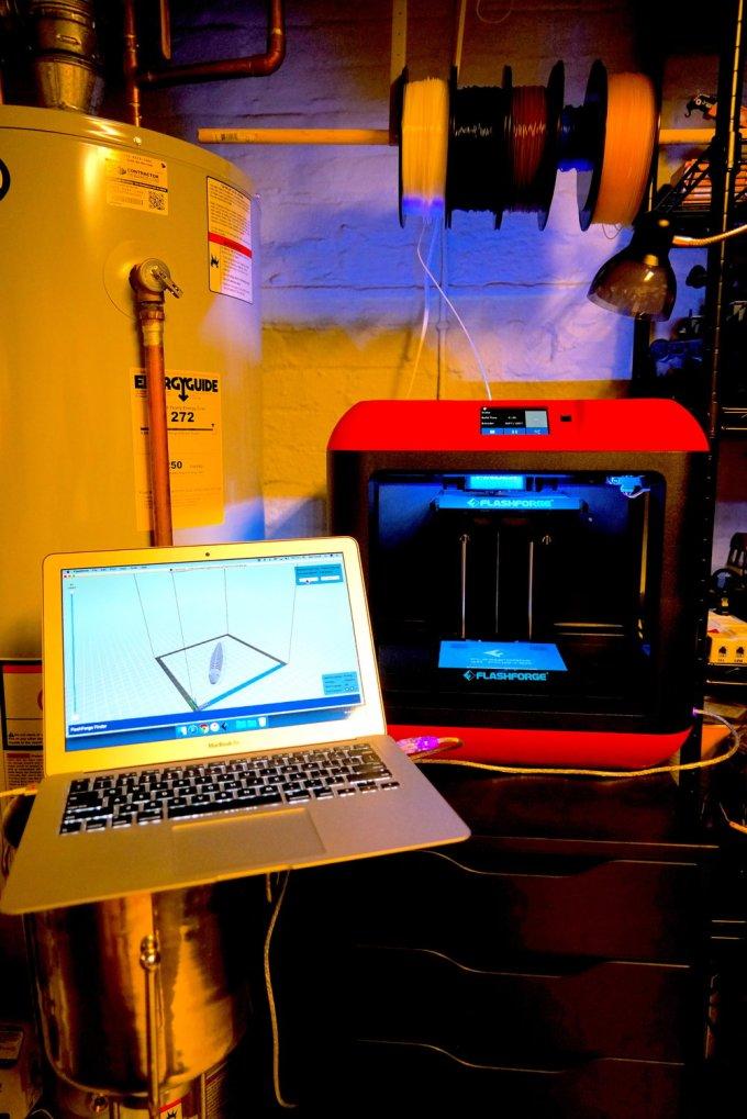 The author's Flashforge Finder 3 D printer.