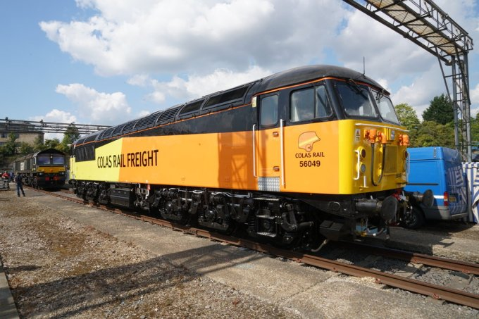 A  UK Class 56 diesel electric locomotive , built from 1976 through 1984.