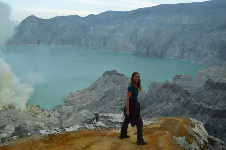 Near the end of the spectacular (and spectacularly-steep) hike up Kawa Ijen