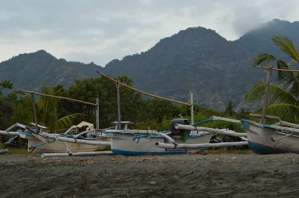 Pemuteran is home to many fishermen, and the beach is lined with their boats