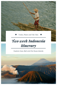 This two week Indonesia itinerary will give you everything you need to plan a short trip