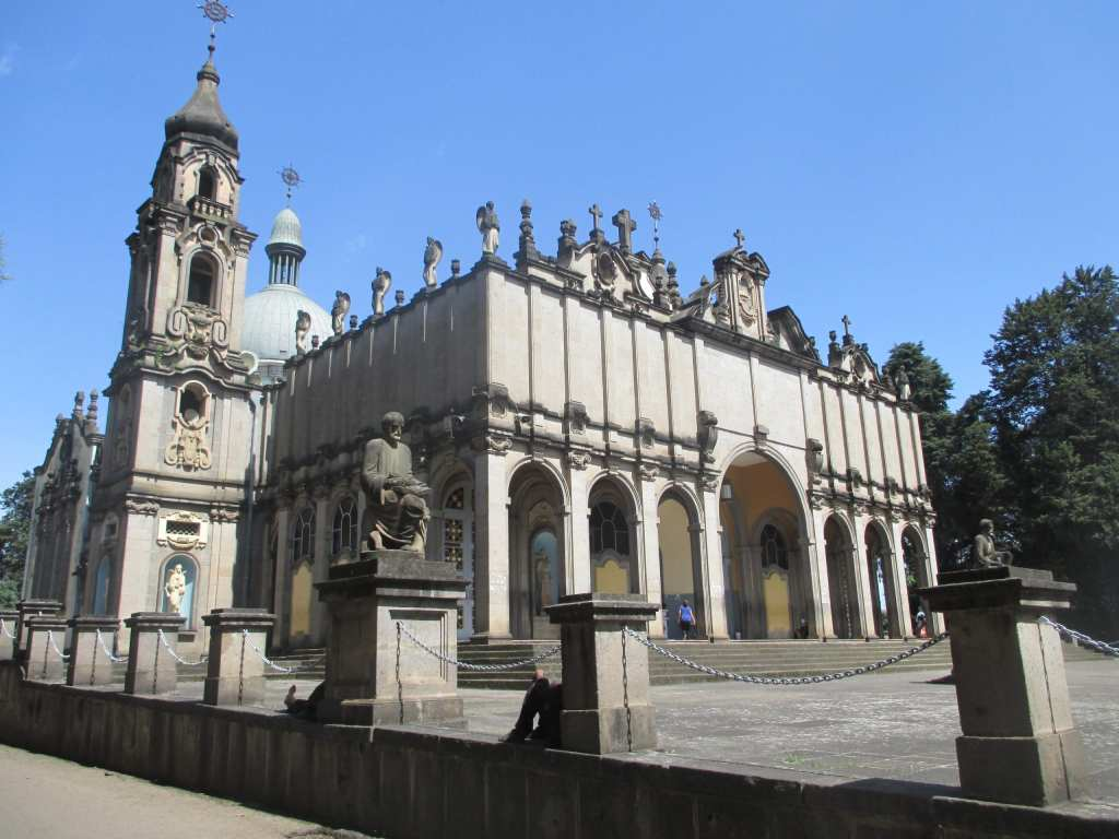 The pretty exterior of Trinity Cathedral, the one must-visit church on your layover in Addis Ababa