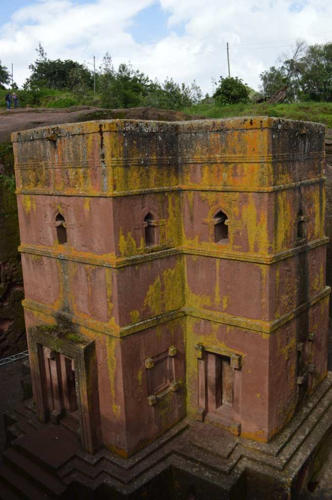 Lalibela's most iconic rock hewn church is Bet Giyorgis, carved in the shape of a cross