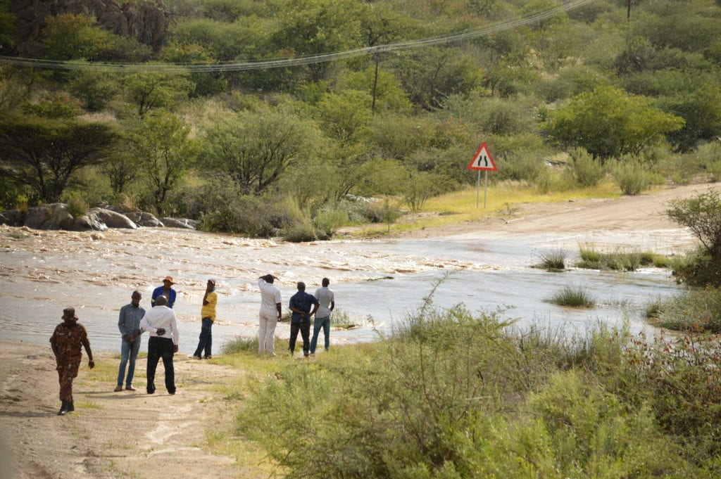 Where once there was a road, now there is a river. Damaraland is a more challenging part of Namibia.