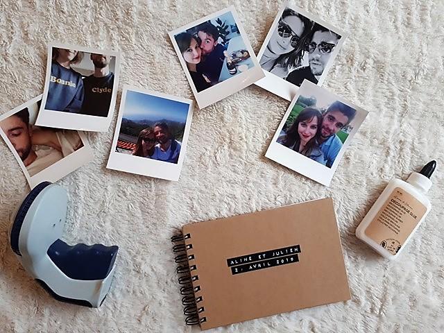 idée livre d'or mariage DIY : le matériel pour le réaliser