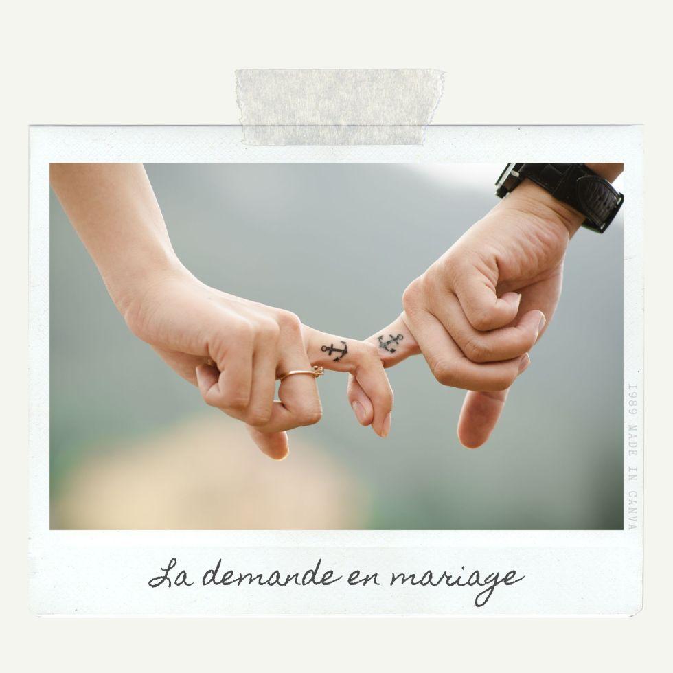 demander un homme en mariage