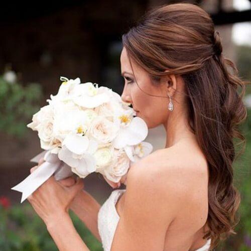 Coiffure mariage cheveux lachés