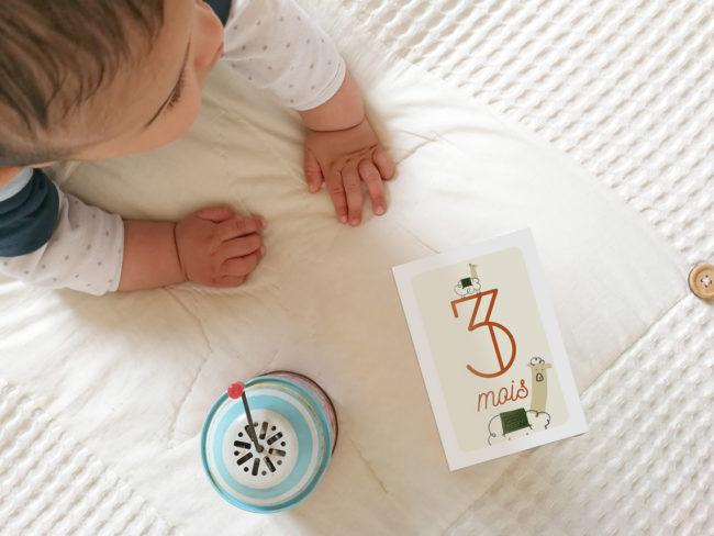 cartes étape bébé