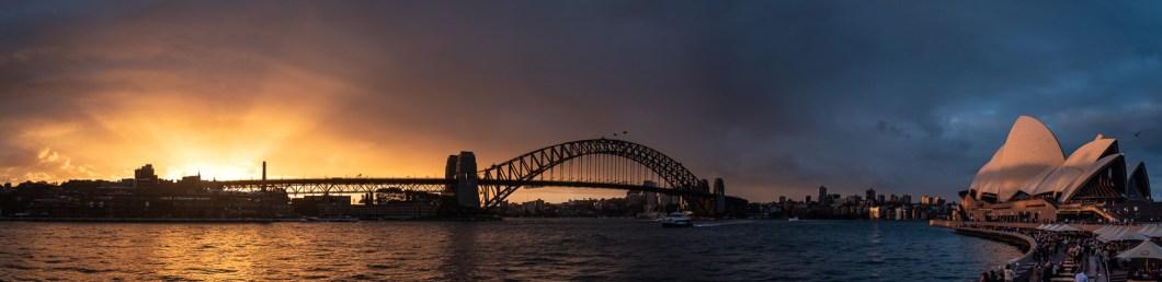 couché de soleil opéra de sydney australie