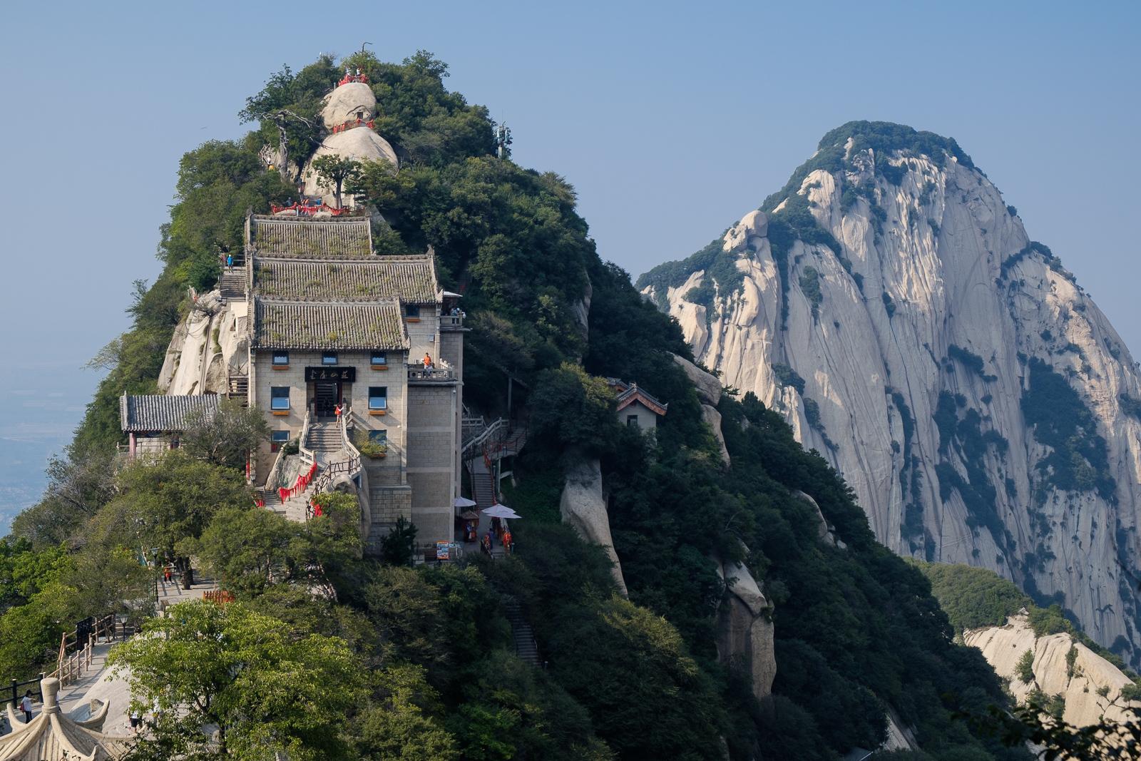 sommet mont huashan montagne chine randonnée