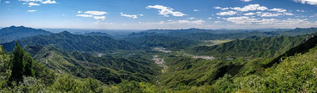 vue panoramique grande muraille de chine MUTIANYU