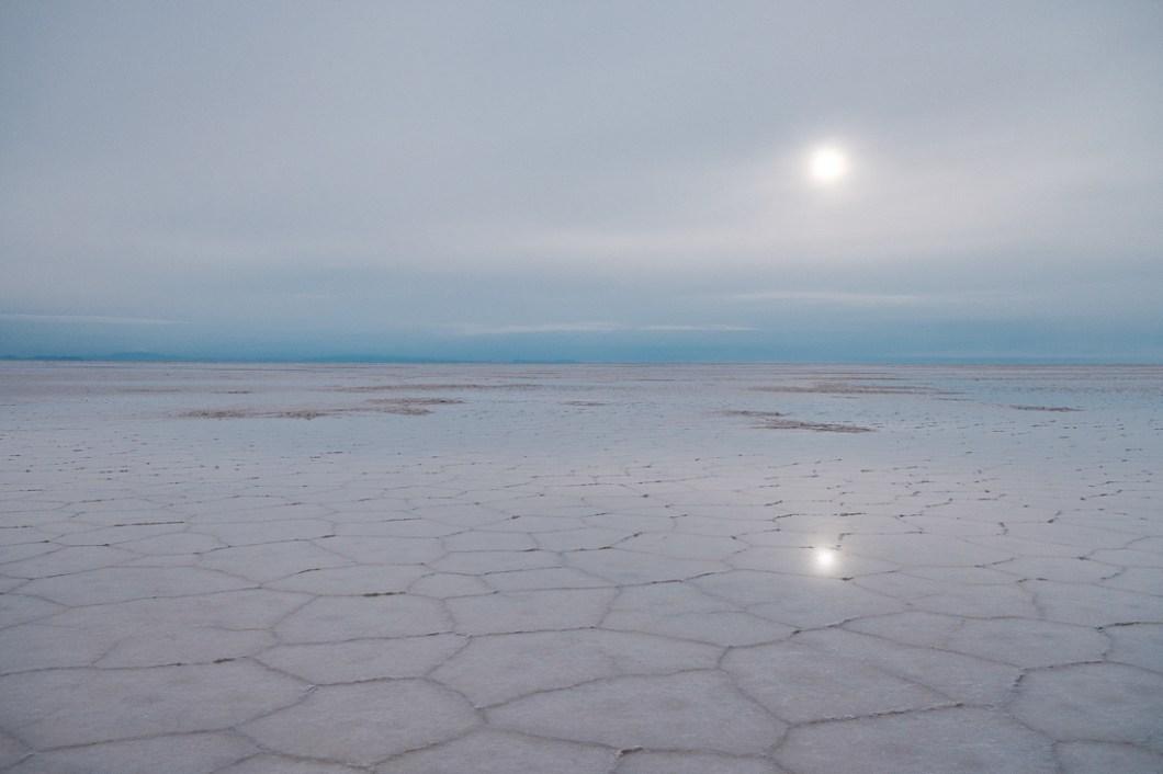 salar d'uyuni bolivie soleil sel