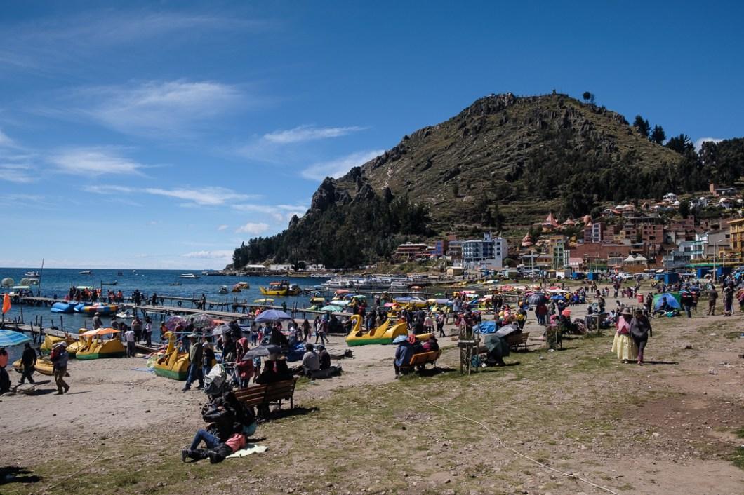 plage copacabana bolivie andes