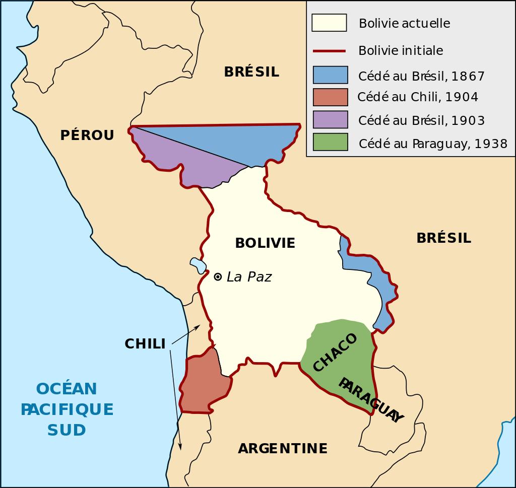 carte bolivie territoire perdu
