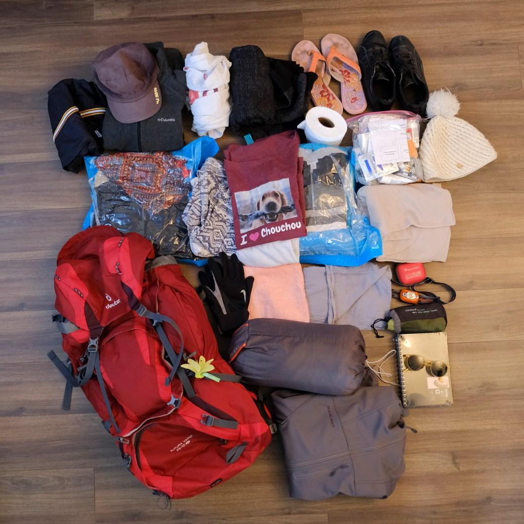 backpack contenu tour du monde