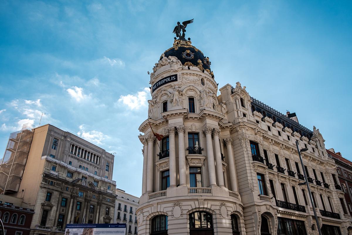 Madrid immeuble metropolis espagne