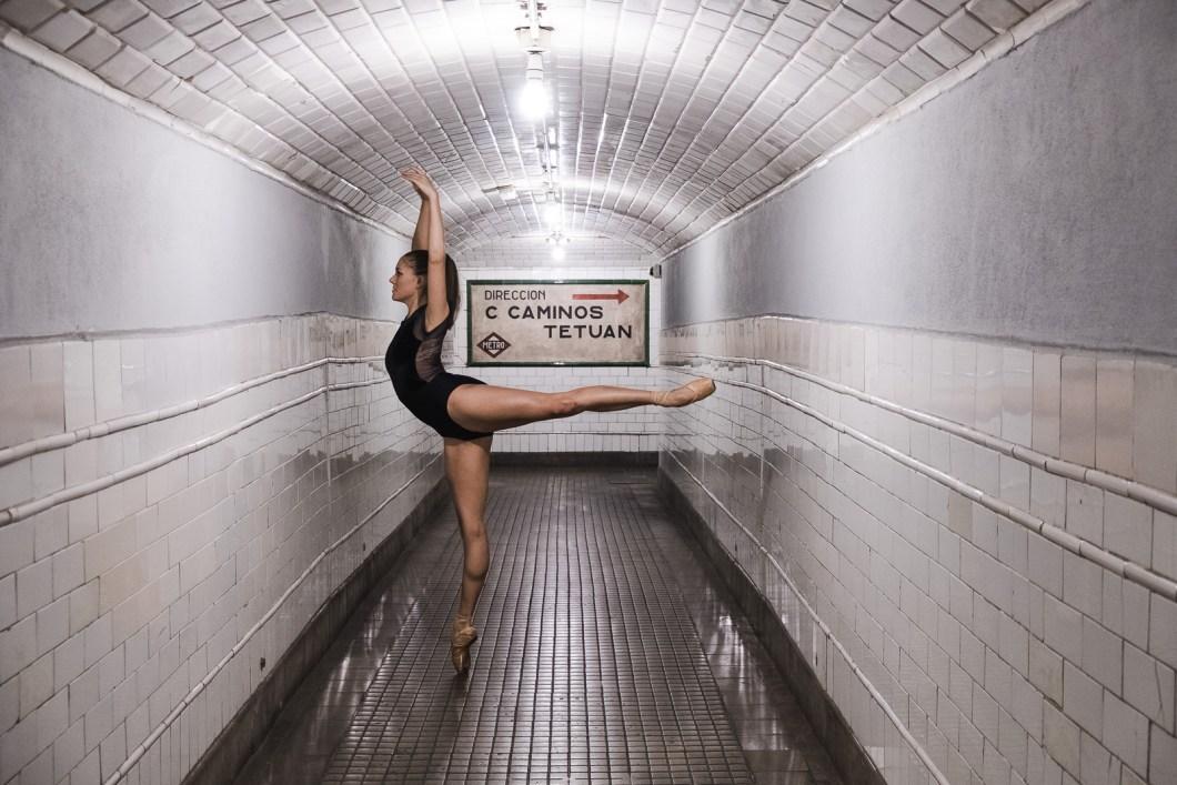 ballet métro madrid danse