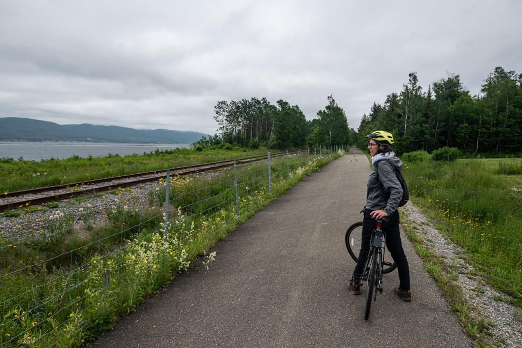 piste cyclable gaspé