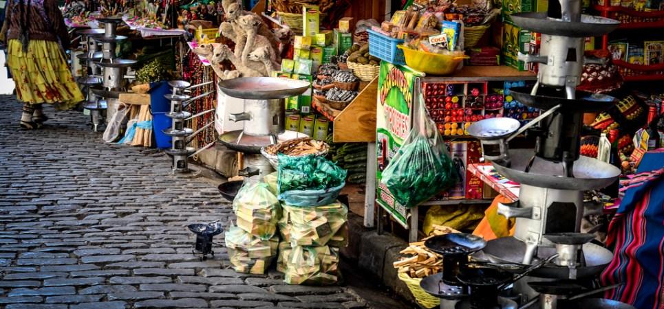 marché des sorcières - la Paz